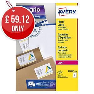 AVERY L7168-250 QUICKPEEL WHITE LASER ADDRESSING LABELS 199.6X143.5MM-BOX OF 250