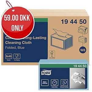 TORK COLOUR CODED CLOTHS BLUE - BOX OF 40
