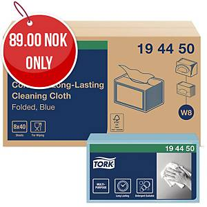 TORK COLOUR CODED CLOTHS BLUE - BOX OF 40