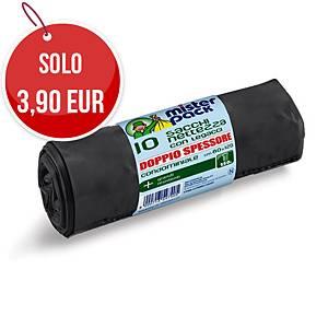 Sacchi spazzatura Mistersack 150 L nero - rotolo 10