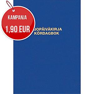 Ajopäiväkirja 187 nidottu A5A pysty 32 lehteä