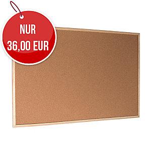 Korktafel mit Holzrahmen 120 x 90 cm