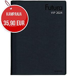 Ajasto Futura VIP pöytäkalenteri 2020 A4, musta