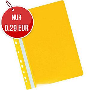 Herlitz Schnellhefter mit Lochrand A4 gelb