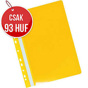 Herlitz függő panorámás gyorsfűző, sárga, 20 darab/csomag