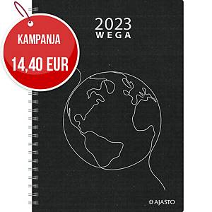 Ajasto Wega Eko pöytäkalenteri 2020 A5, musta
