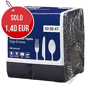 Tovaglioli in cellulosa a 2 veli Tork 24x24 cm nero - conf. 100