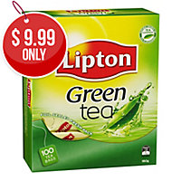 LIPTON GREEN TEA BAGS FOIL SEALED ENVELOPES- BOX OF 100