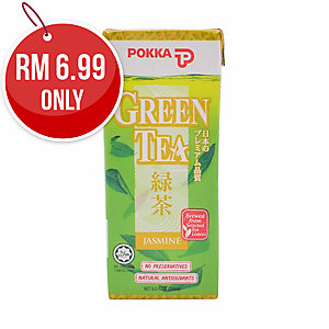 POKKA GREEN TEA 250ML - PACK OF 6
