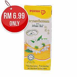 POKKA CHRYSANTHEMUM WHITE TEA 250ML - PACK OF 6