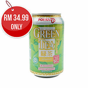 POKKA JASMINE GREEN TEA 300ML - PACK OF 24 CANS