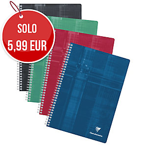 BLOCCO A SPIRALE CLAIREFONTAINE METRIC F.TO A4 A RIGHE 90 FOGLI 90 G/MQ