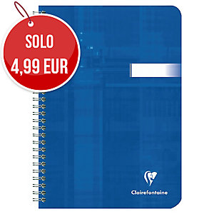 BLOCCO A SPIRALE CLAIREFONTAINE METRIC F.TO A5 A RIGHE 90 FOGLI 90 G/MQ
