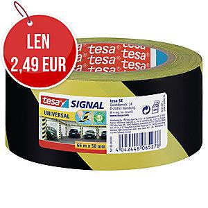 Označovacia lepiaca páska tesa® 58133 žlto-čierna, 50 mm x 66 m