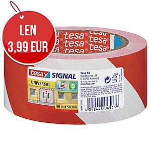 Označovacia PVC páska tesa® SIGNAL UNIVERSAL 58134, 50 mm x 66 m, bielo-červená