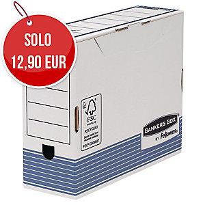 SCATOLE PER ARCHIVIO BANKERS BOX FELLOWES IN CARTONE A4 MAXI DORSO 10 - CONF. 10