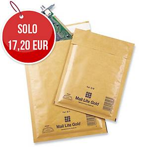 Buste a sacco imbottite Mail Lite® gold 16x18 cm avana - conf. 100