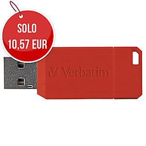 MEMORIA USB VERBATIM PINSTRIPE 16GB ROSSA