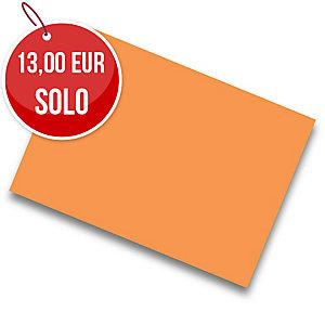 Pack de 25 cartulinas de  50x65 185g/m2  IRIS de color naranja