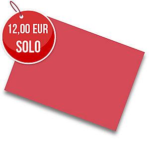 Pack de 25 cartulinas de  50x65 185g/m2  IRIS de color rojo