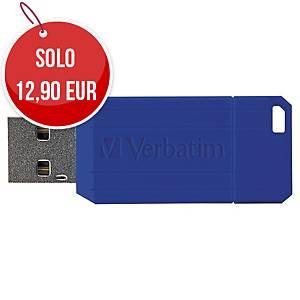 Memoria USB Verbatim Pin Stripe 32 GB blu