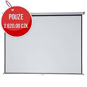 Nástěnné plátno Nobo Professional 4:3, 240 × 181 cm, matný povrch