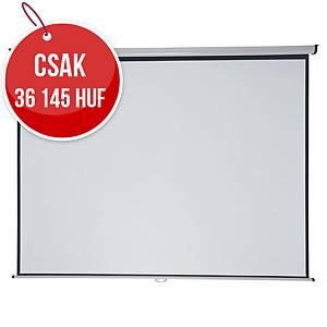 Nobo 4:3 fali vetítővászon, 240× 181 cm, matt felület