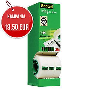 Scotch 810 Magic teippi 19mm x 33m, myyntierä 1 kpl = 8 rullaa