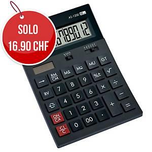 Calcolatrice da tavolo Canon AS-1200, visualizzazione 12 cifre, nero