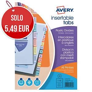 Intercarlari Avery PPL 12 tasti trasparenti colorati