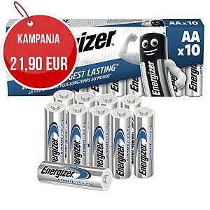 Energizer Ultimate litiumparisto AA/LR6, myyntierä 1 kpl = 10 paristoa
