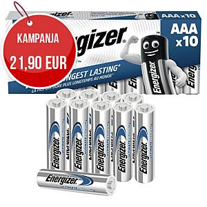 Energizer Ultimate litiumparisto AAA/LR3,myyntierä 1kpl = 10 paristoa