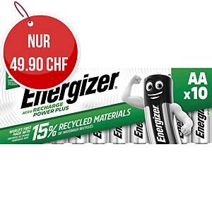Akku Energizer Rechargeable AA, HR6/E91/AM3/Micro, Packung à 10 Stück