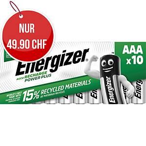 Akku Energizer Rechargeable AAA, HR03/E92/AM4/Micro,  Packung à 10 Stück