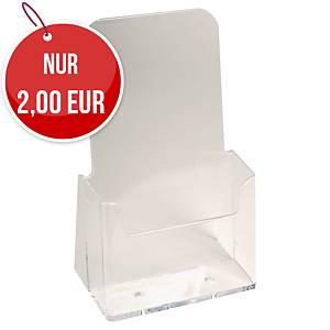 Tischprospektständer Exacompta 73058D, für DL 1/3 A4 Prospekte, transparent