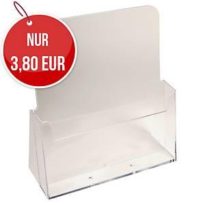 Tischprospektständer Exacompta 74058D, für DIN A4 Prospekte, transparent
