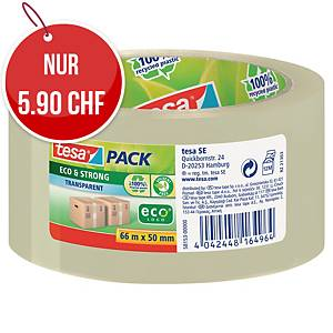 Verpackungsband Tesa Eco&Strong 58153, 50 mm x 66 m, transparent