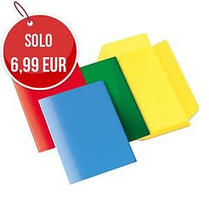 Cartelletta 3 lembi  Arca cartoncino 300 g/mq verde - conf. 10