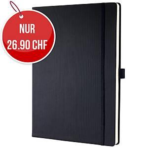 Notizbuch SIGEL Conceptum A4, Hardcover, 5 mm kariert, 194 Blatt, schwarz