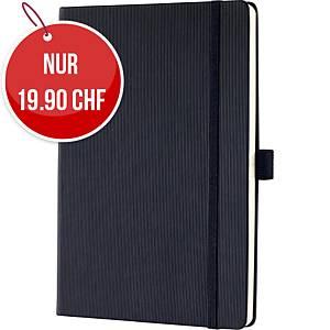 Notizbuch Sigel Conceptum CO121 A5, Hardcover, 5 mm kariert, 194 Blatt, schwarz