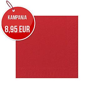 Duni kahviservetti 24x24cm, 2-kert., punainen, myyntierä 1 kpl = 300 liinaa