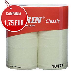 Katrin Classic wc paperi keltainen 2- kertainen, myyntierä 1 pakkaus = 40 rullaa