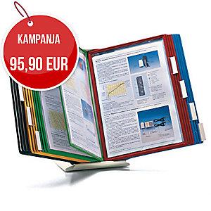 Servifold 11822 pöytäteline A4, 20 taskulle, jalusta 19 x 19 cm