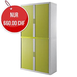 Rollladenschrank Paperflow, 110x41,5x204 cm (BxTxH), weiss/grün