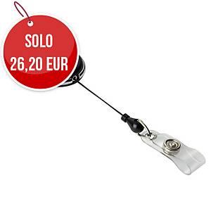Chiocciola YO-YO portanome Durable in metallo cromato nero - conf. 10