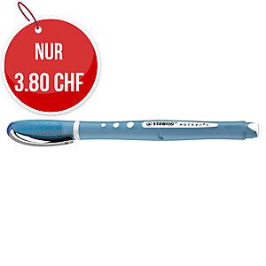 Roller Stabilo worker+ colorful, Strichbreite 0,5 mm, blau