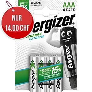 Akku Energizer Rechargeable AAA, HR03/E92/AM4/Micro, Packung à 4 Stück