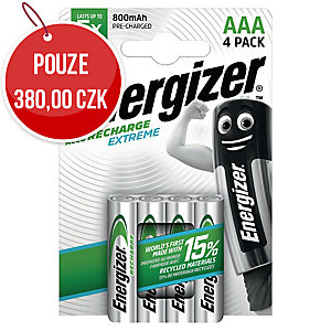 Dobíjecí baterie Energizer Extreme, HR3/AAA, 800mAh, 4 kusy