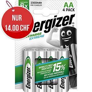 Akku Energizer Rechargeable AA, HR6/E91/AM3/Mignon, Packung à 4 Stück
