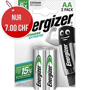 Akku Energizer Rechargeable AA, HR6/E91/AM3/Mignon, Packung à 2 Stück